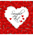 Big white paper heart on a background made of vector image