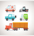 Car Flat Icon Set 3 vector image