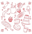 collection of breads vector image