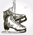 retro skates vector image