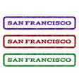 san francisco watermark stamp vector image