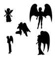 Silhouette of a black angel vector image