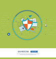 social network security and data protection vector image