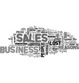 Why sales people lose business text word cloud vector image