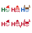 Ho ho ho Christmas card vector image
