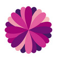 purple circular frame formed by petals vector image
