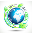 Ecology Green conceptual background vector image vector image