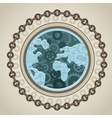 globe with social media icons vector image vector image