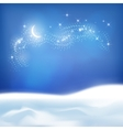 Abstract Winter Night Background vector image