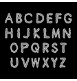 Alphabet gray letters on a black background vector image