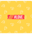 Background poster with hearts and hashtag love vector image