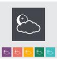 cloud night vector image