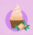 colorful muffin cake sweet beautiful cupcake vector image