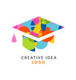 creative idea logo template with flat icon of vector image