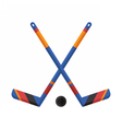 Crossed Hockey Sticks vector image