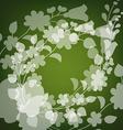 Kalocsai pattern on green vector image