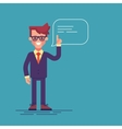 Man holding up his index finger and giving advice vector image