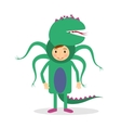 Monster party costume vector image
