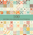 set of 100 seamless retro vector image