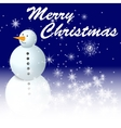 snowman on bluue winter background vector image