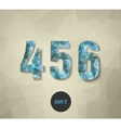 triangular numbers abstract blue vector image