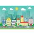Urban landscape flat Village vector image