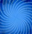 Vintage spiral blue background vector image