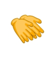 Yellow rubber gloves icon cartoon style vector image