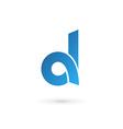 Letter D logo icon design template elements vector image vector image