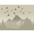 birds in mountains vector image