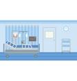 Background of hospital ward vector image
