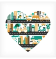 City love vector image