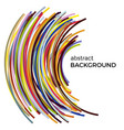 abstract background with multicolored curved lines vector image