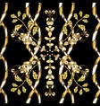 decorative symmetry arabesque seamless medieval vector image