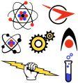 fifties logos vector image