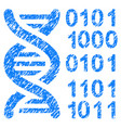 genome code grunge icon vector image