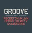 groove decorative bold font design alphabet vector image