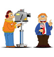 Media interview cartoon vector image