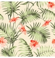 Seamless pattern of a palm vector image