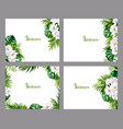 set of holiday banners with green tropical palm vector image