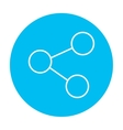 Social network line icon vector image