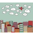 urban doodle vector image