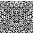 Vintage black and white pattern vector image