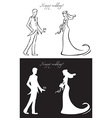 wedding day bride and groom vector image