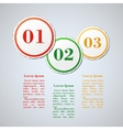 Business concept with 3 steps or processes vector image