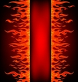 Fire stripe with free space vector image vector image