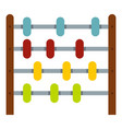 children abacus icon isolated vector image
