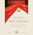 colorful retro design certificate or diploma vector image