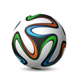 Football soccer match ball Brazil 2014 vector image