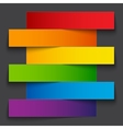 Infographics rainbow paper stripe banners with vector image